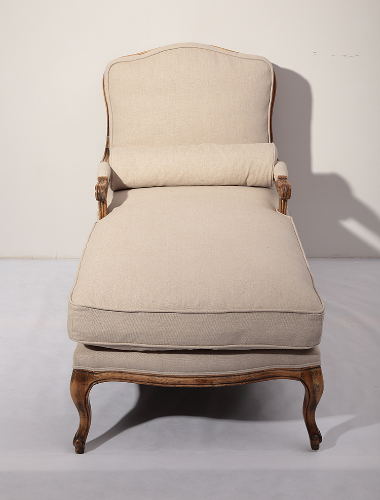 French Style Rattan Back Classic Lounge Salon Sofa Chair