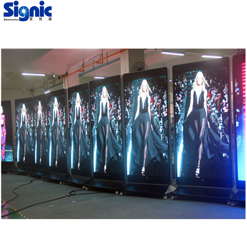 shopping mall touch advertising movable indoor P4mm iphone led display <strong>screen</strong>
