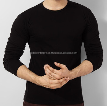 Full sleeves 100% cotton t shirts