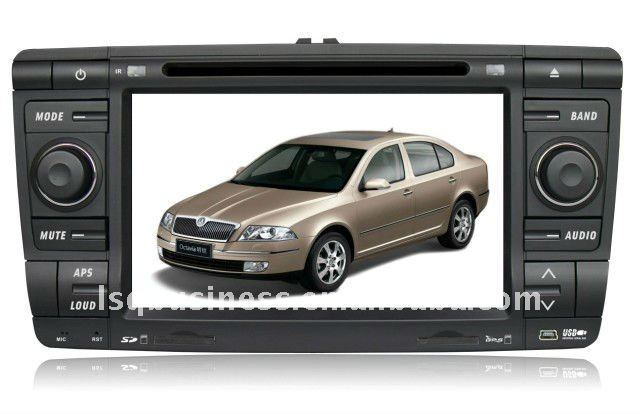 cheap car DVD for Skoda Octavia with GPS, RDS, bluetooth, FM, TV, steer wheel control, SD, USB and other functions