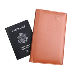 Hot Sale Pu Leather Passport Cover Travel Wallet Ticket Document Holder