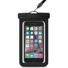 Outdoor neck hanging clear pvc waterproof smart mobile phone bags cases