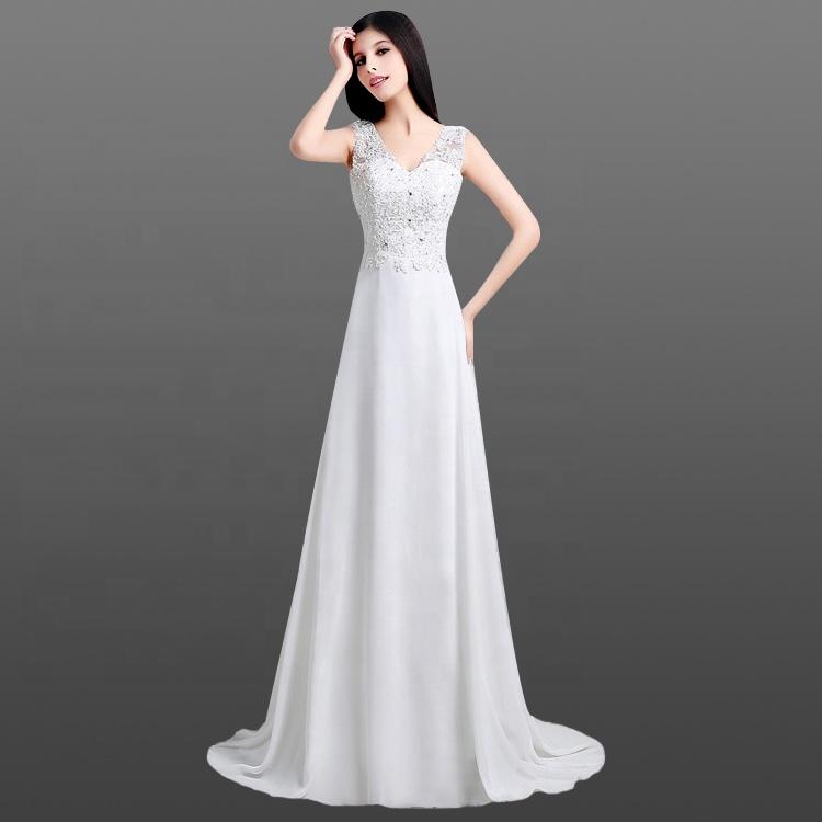 Bridal Dress Wedding Boho Patterns Sleeveless Cowl Back Chiffon