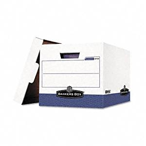 Bankers Box : Storage Box, Letter/Legal, 12-1/4 x 18-1/2 x 12, WE/Blue, 12/Ctn -:- Sold as 2 Packs of - 12 - / - Total of 24 Each