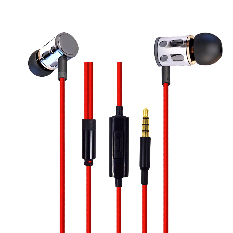 Original Fashion Metal Earphones 3.5mm In-Ear Earbuds Subwoofer Super Bass Stereo Headset With Mic