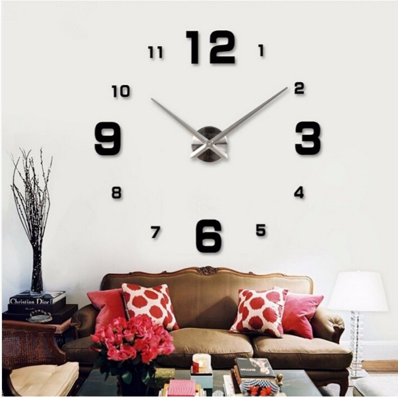 2016 hot sale wall clock large decorative wall clocks home decor diy clocks living room reloj. Black Bedroom Furniture Sets. Home Design Ideas