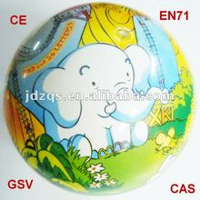 Full color printing non-toxic pvc ball/plastic toy