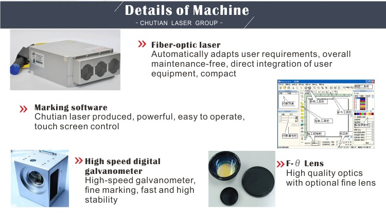 Car parts bearing fiber 20w laser marking machine for metal