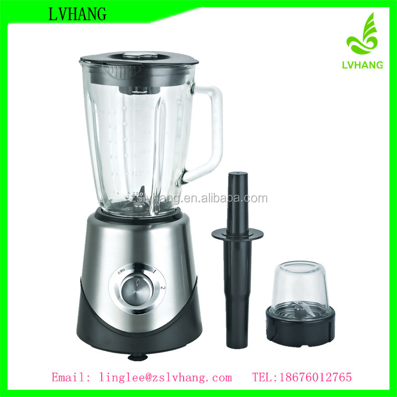 500W copper motor 1.5L electric blender with glass bottle