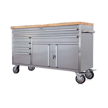 Mobile Garage Storage Cabinet 60 Inch Mechanics Work Bench Rolling Tool Box