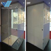 electric lcd switchable privacy smart pdlc glass price for bathroom and office