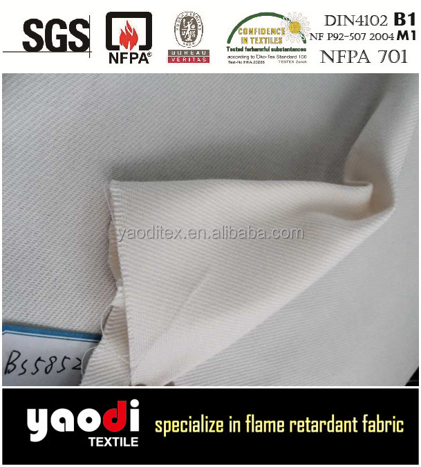 Superior quality 100% polyester flame retardant workwear cloth