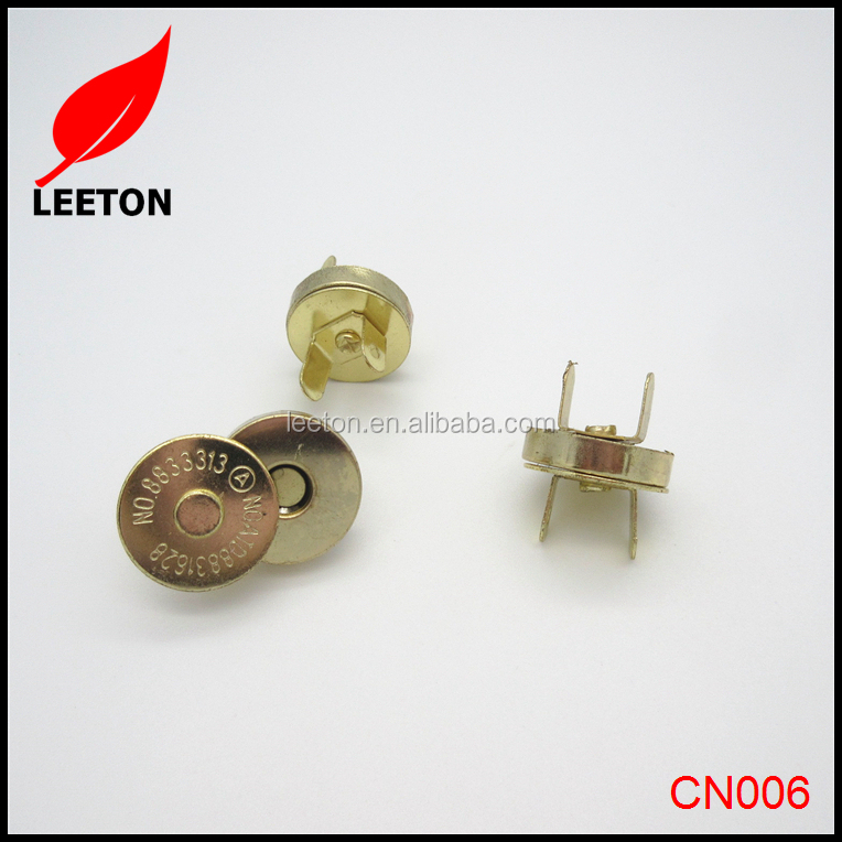 Factory supply 18mm Gold magnetic snap button for clothing