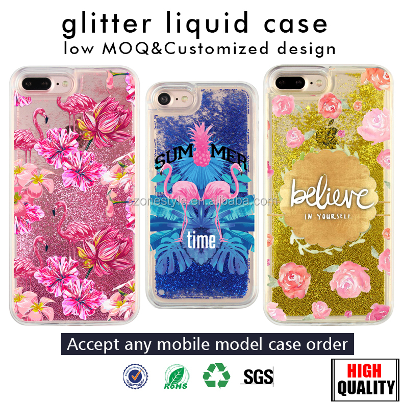 custom liquid phone case silicone liquid glitter case for samsung galaxy s7 edge