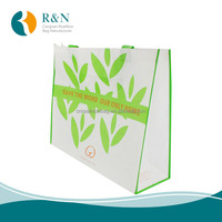 recyclable polypropylene non-woven fabric gift bags with handles for shopping or Public Welfare Promotion