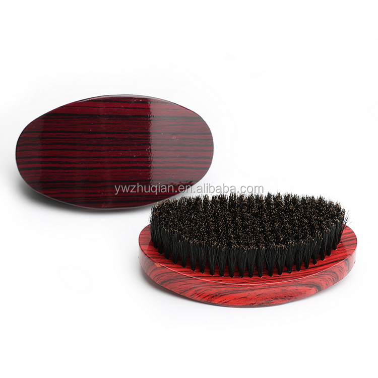 High quality custom Wooden Curved wave Bristle hair brush