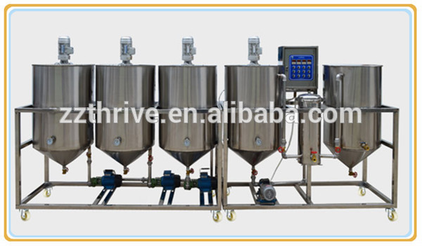 high quality small scale edible oil refinery plant;oil refinery