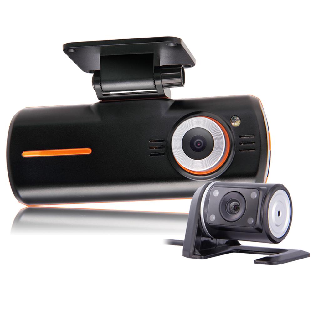 dual lens camcorder car dvr camera hd 1080p dash cam black box with rear 2 cam vehicle view gps. Black Bedroom Furniture Sets. Home Design Ideas