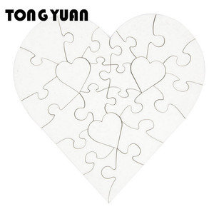 good price MDF blank heart-shaped sublimation jigsaw puzzle