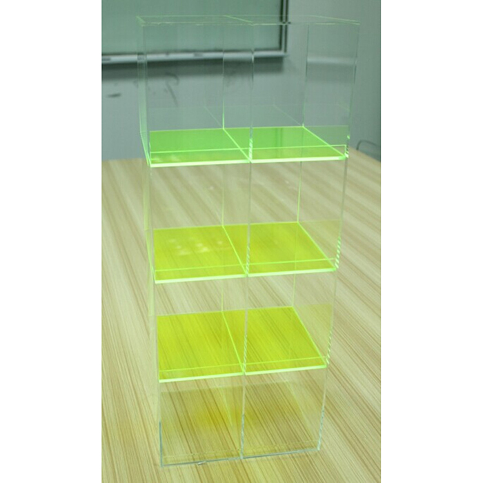 cell phone accessories display case, countertop acrylic 4 layers phone accessories display rack wholesale