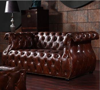Living Room Furniture Heated Leather Sofa
