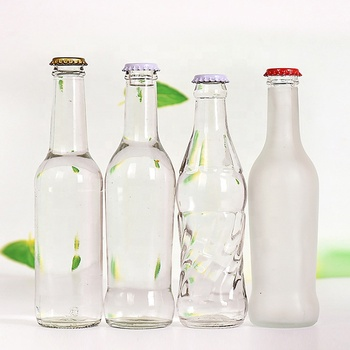 High quality glass bottles for carbonated drinks