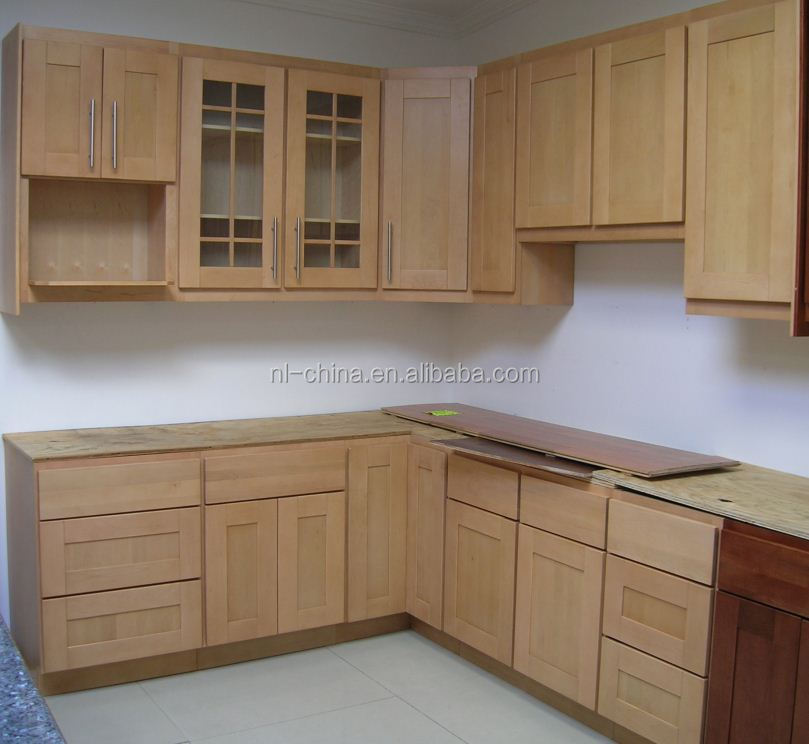 Building Material Rta Solid Wood Kitchen Cabinets Display For Sale