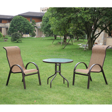 Sling outdoor furniture patio 3 piece Bistro set