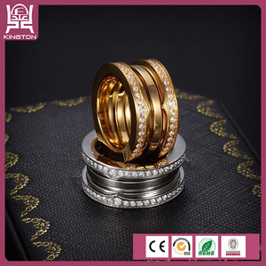 latest beautiful design Screw thread gold diamond ring