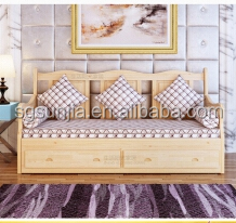 China manufacturer latest pine wood little single bed sofa cum bed for kids room
