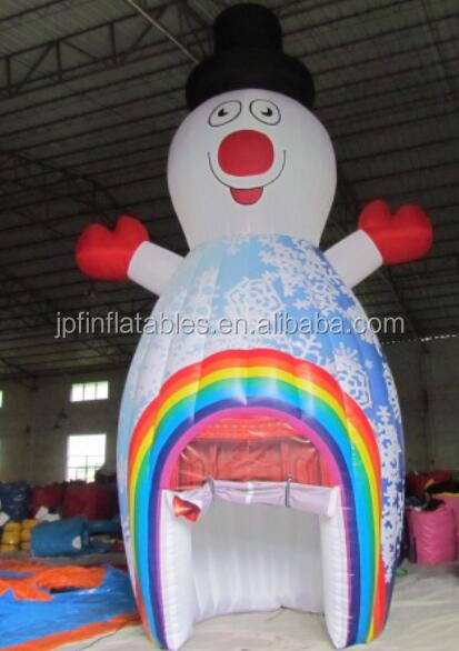 Customized Christmas snowman party used inflatable photo booth tent for sale