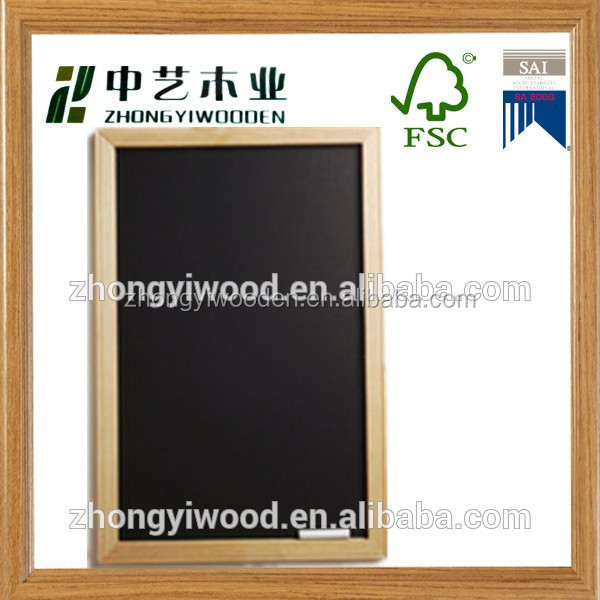 2015 year factory suppliers ISO9001&FSC&SA8000 outdoor hanging wooden chalkboard for made in China wholesale