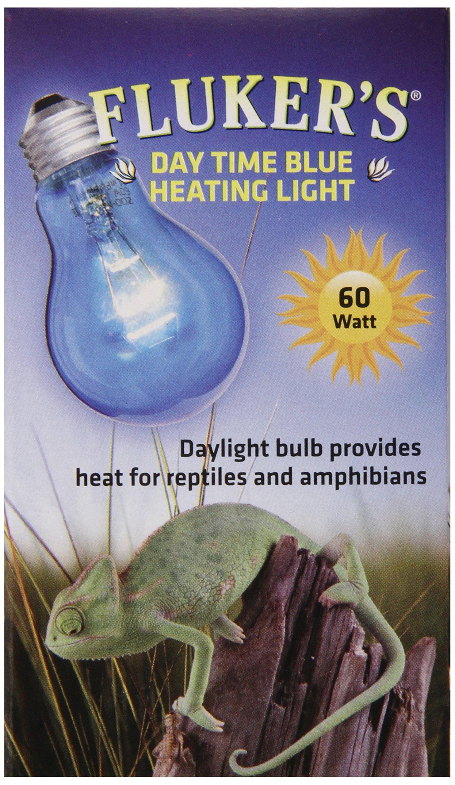 Fluker Labs SFK22402 Reptile Incandescent Daylight Bulb for Pet Habitat, 60-watt, Blue