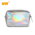 2019 new design shiny pu holographic cosmetic bag
