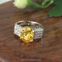 2014 Fashion Newest Design Zales Wedding Rings with Yellow Stone