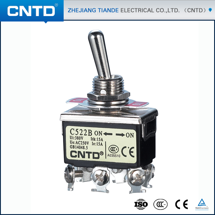 CNTD Bulk Free Sample Products Screw Terminal Spring Loaded Mini Toggle Switch