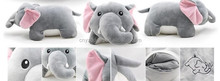 Christmas soft microbeads pillow Transform travel cute neck Pillow stuffed plush elephant toy