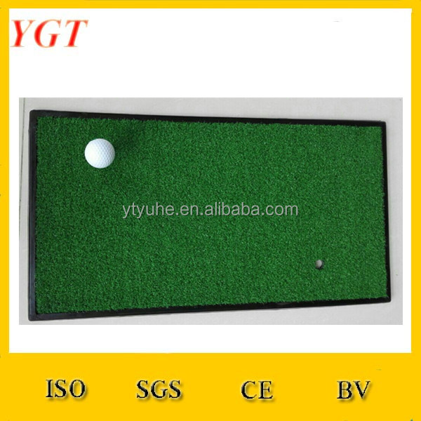 Bulk Artificial Grass Golf Training Aid Putter putt Matt Indoor Mini Golf Rubber Base Mat