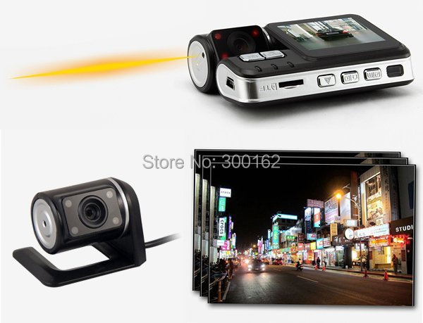 H.264 с двумя объективами HD 720 P приборной панели автомобиля автомобиль камеры g-сенсор