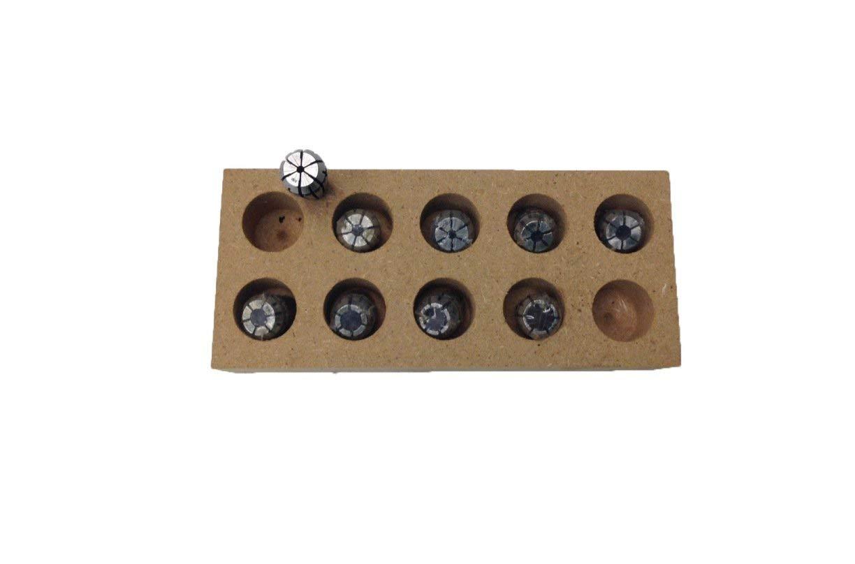 HHIP 3900-5164 9 Piece ER-11 Spring Collet Set, 1/32~9/32