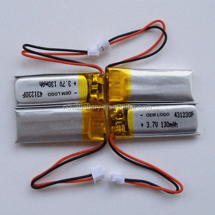 Hot Sales China Small Lipo Battery 3.7v 100mah,90mah 110mah 120mah ...
