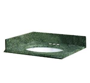 Pegasus 13829 25-Inch by 22-Inch Solid Granite Vanity Top, Quadro