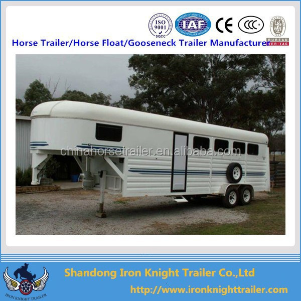 4 horse angle load gooseneck float with round living quarter