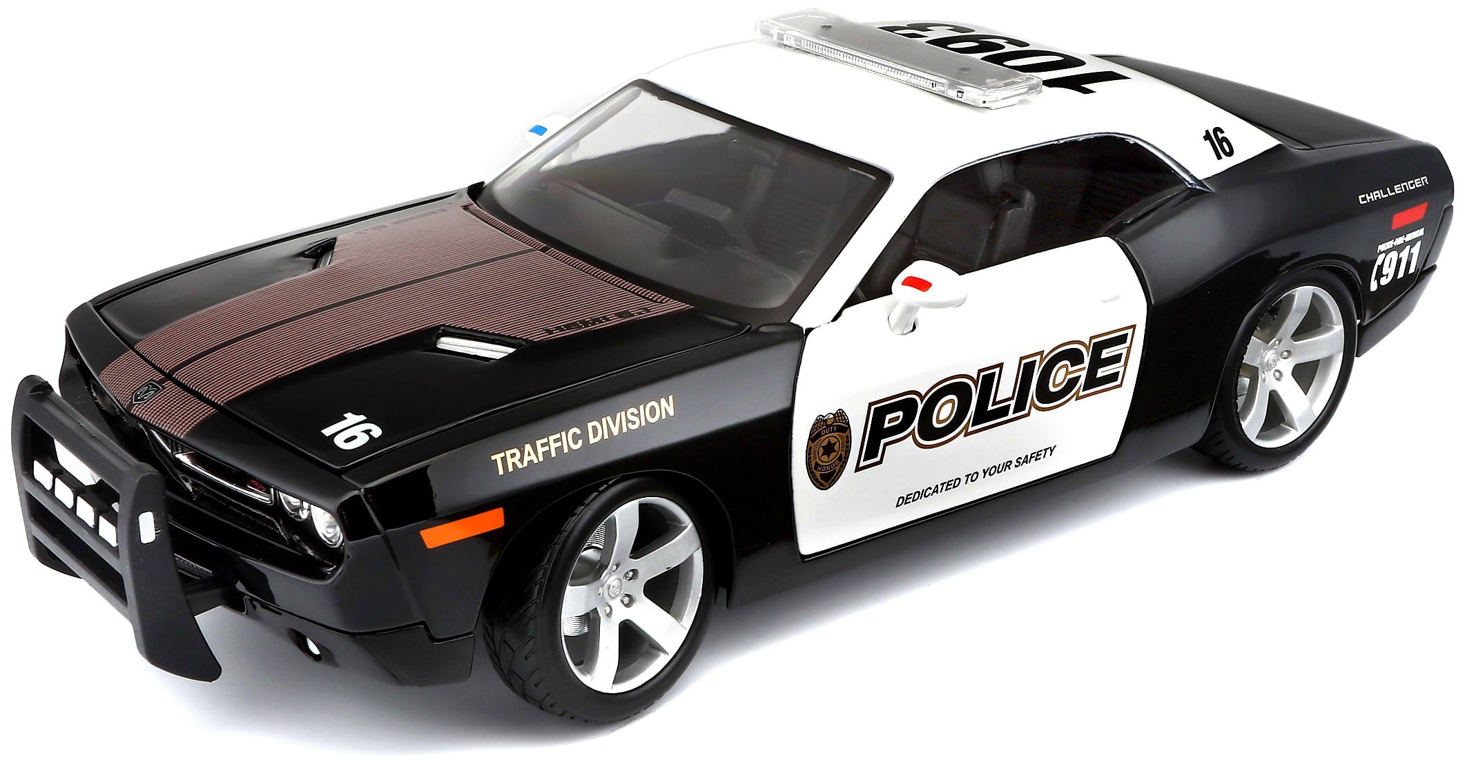 Dodge Challenger Concept Police (2006, 1/18 scale diecast model car, Black) 31365 by Maisto