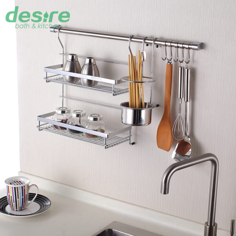 Kitchen Wall Racks With Hooks
