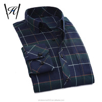 2016 Custom men flannel casual shirt