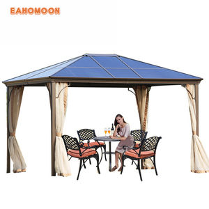 Large Portable 3x3M Metal Aluminum Frame Rome Tents Outdoor Gazebo Garden  Tent With Curtain