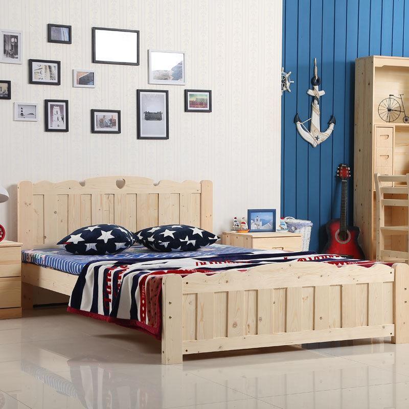 Dark Color Solid Wood Children Bedroom Furniture Set Kids