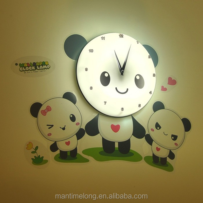 Creative Cute Diy Kids Room D Wall Clock Bedroom Muted Fashion - Wall clock for kids room