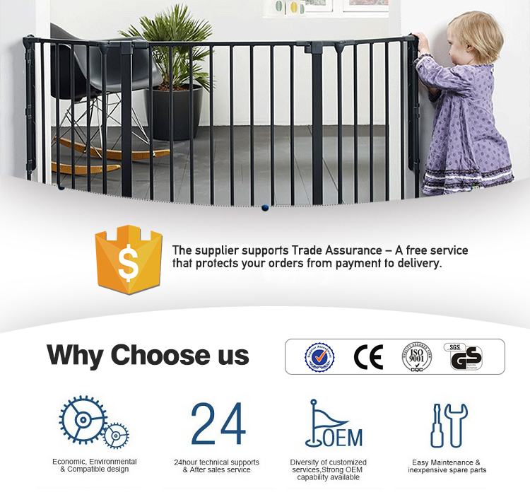 Factory Price New Design Metal Baby Safety Door Gate Suitable For Stair And Door
